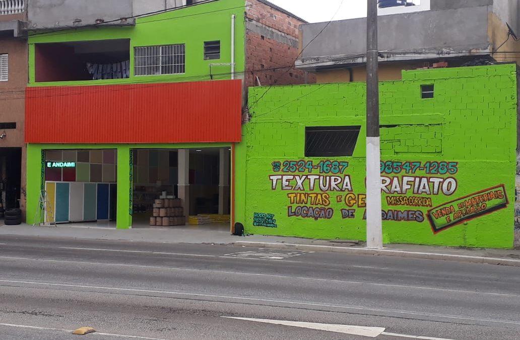 Foto Ilustrativa de Grafiato e Textura Zona Leste